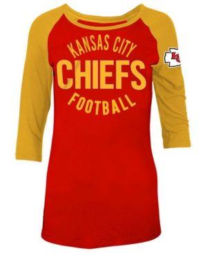 e4d66318 5th & Ocean Women's Kansas City Chiefs Rayon Raglan T-Shirt - Red ...