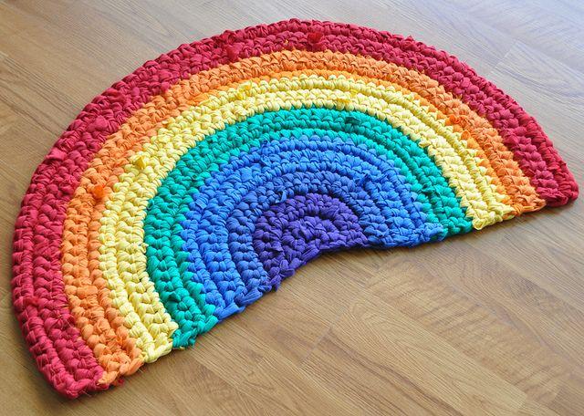 Rainbow Crochet Rug!