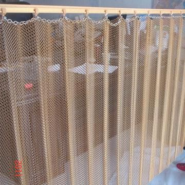 Decorative Metal Mesh Curtain Drapery With 0 6 To 2 0mm Wire