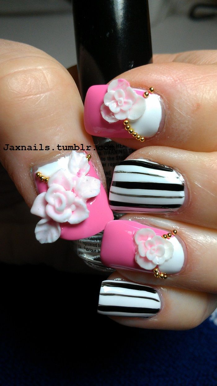 Impressive DIY Flowers On Metal Nail Art Impressive DIY Flowers On Metal Nail Art new images