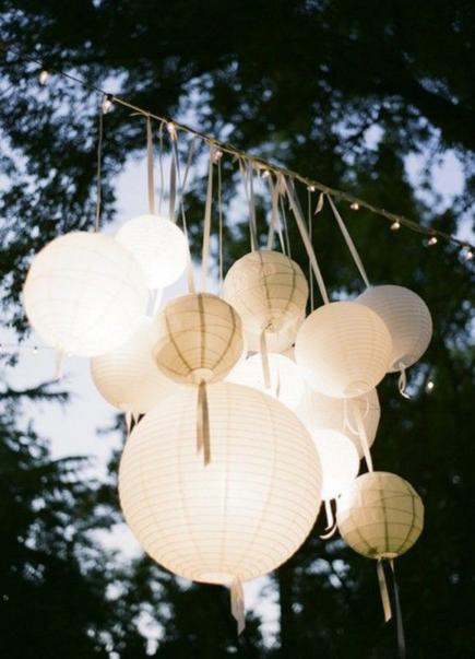 Lights and ribbons DIY Workshop Weddings inspiration
