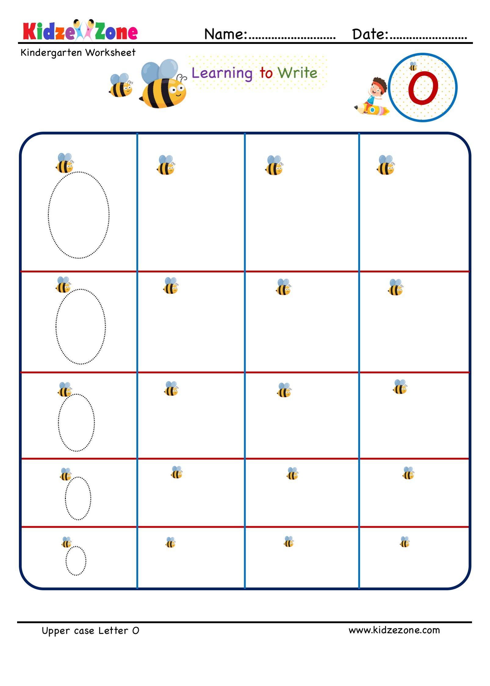 Kindergarten Letter O Writing Worksheet In
