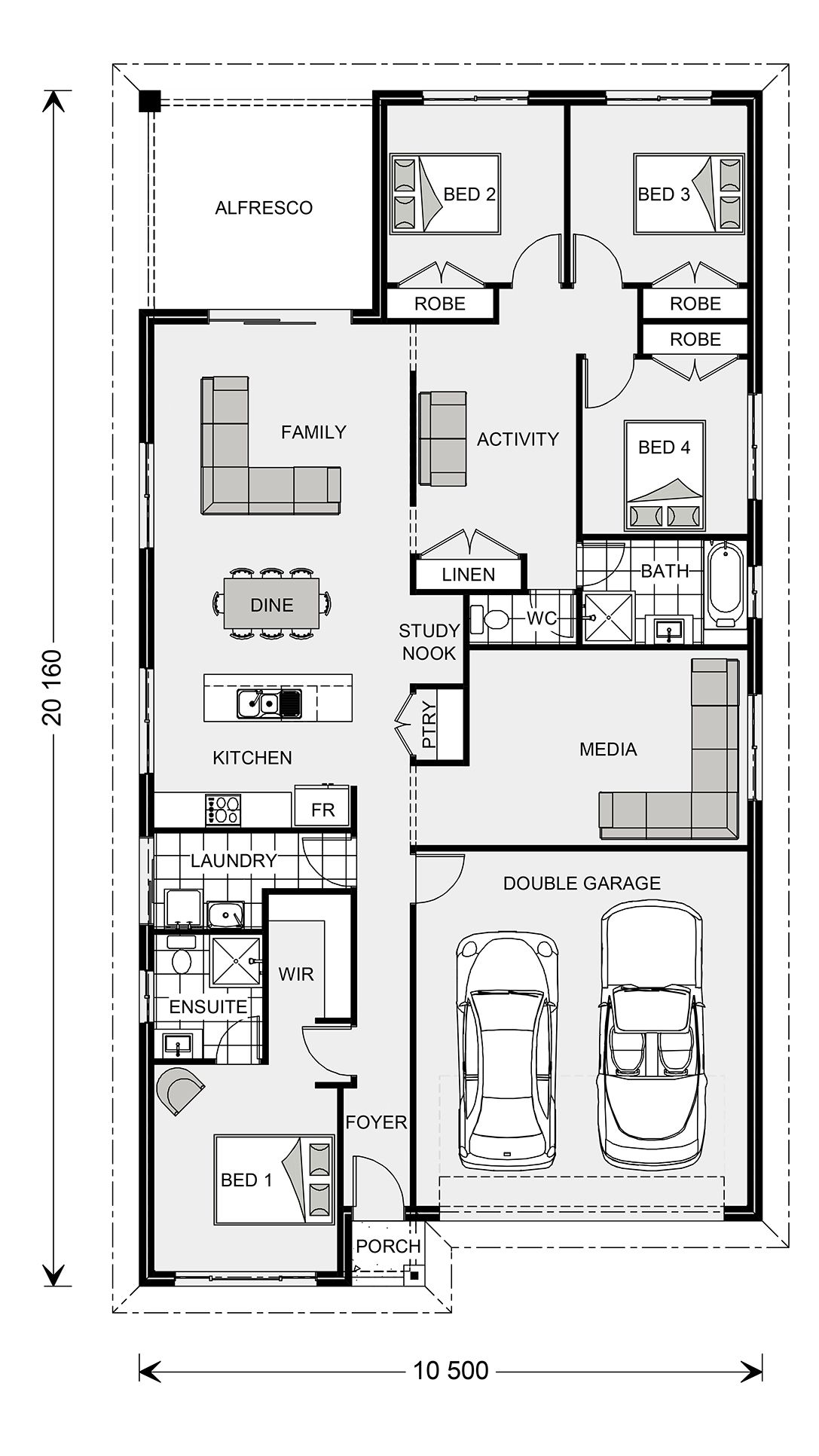 Pacific 205 Express Series Home Designs In Port Macquarie G J Gardner Homes House Design Design Building A House