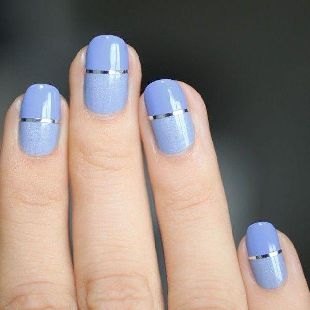 two-toned purple mani