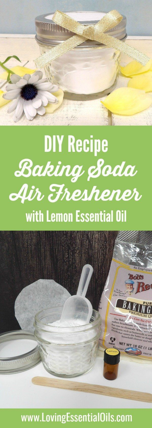 Homemade Baking Soda Air Freshener With Lemon Essential
