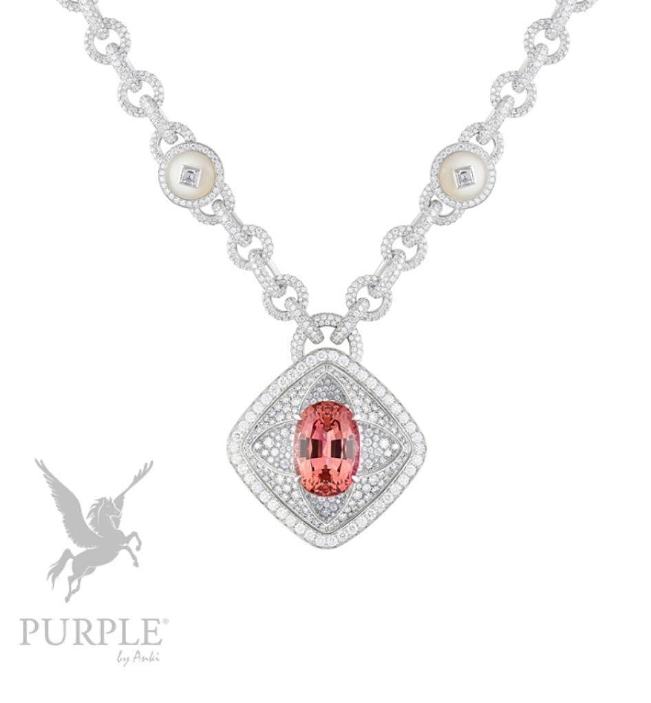 Add this sophisticated white gold one carats imperial topaz