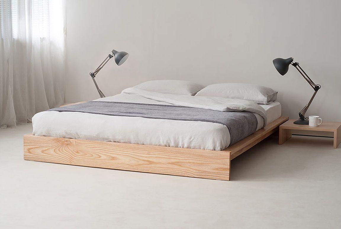 Wunderbar Bett Ohne Kopfteil Aus Massivholz