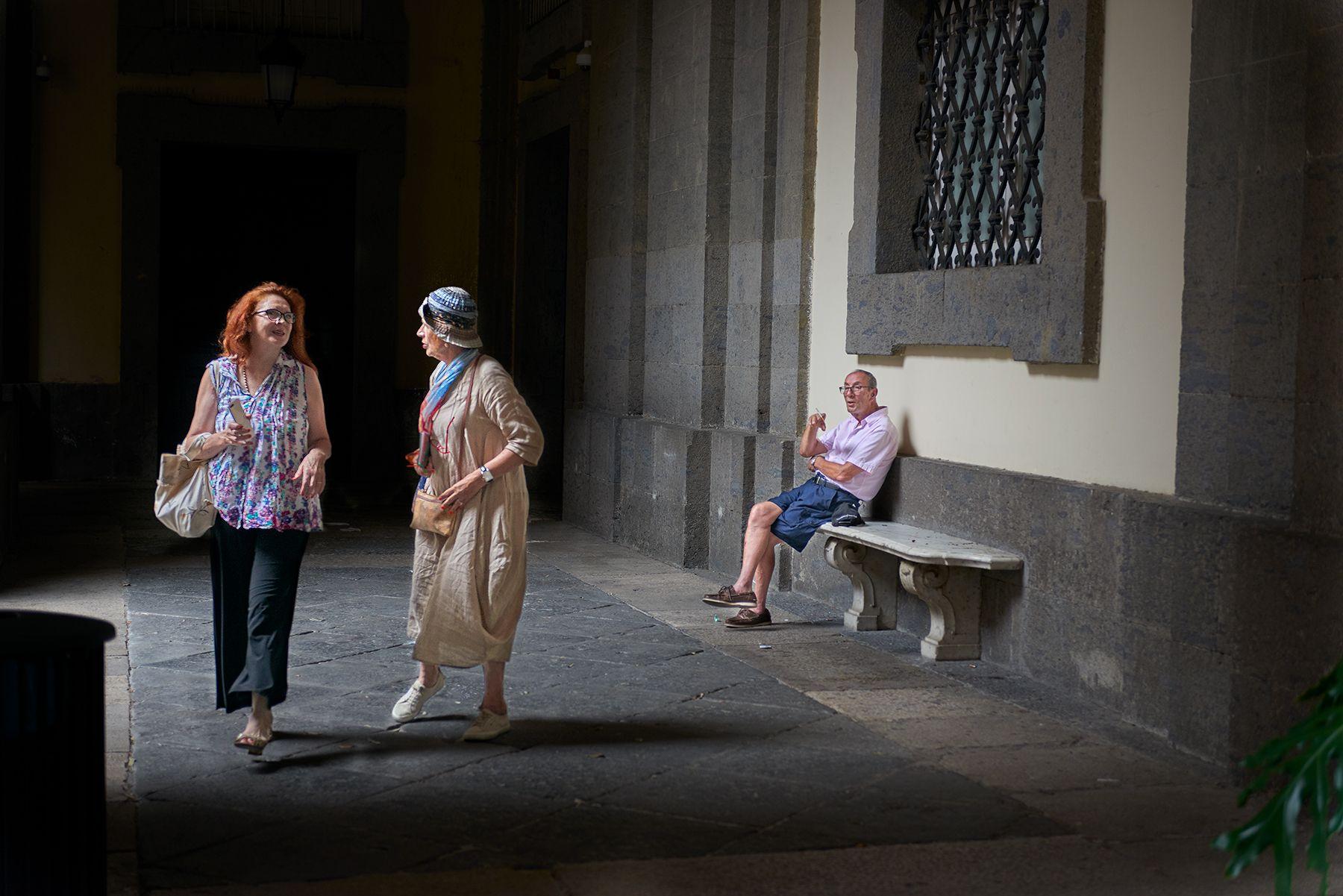 En el pasillo del Museo de Capodimonte, Nápoles, Italia.