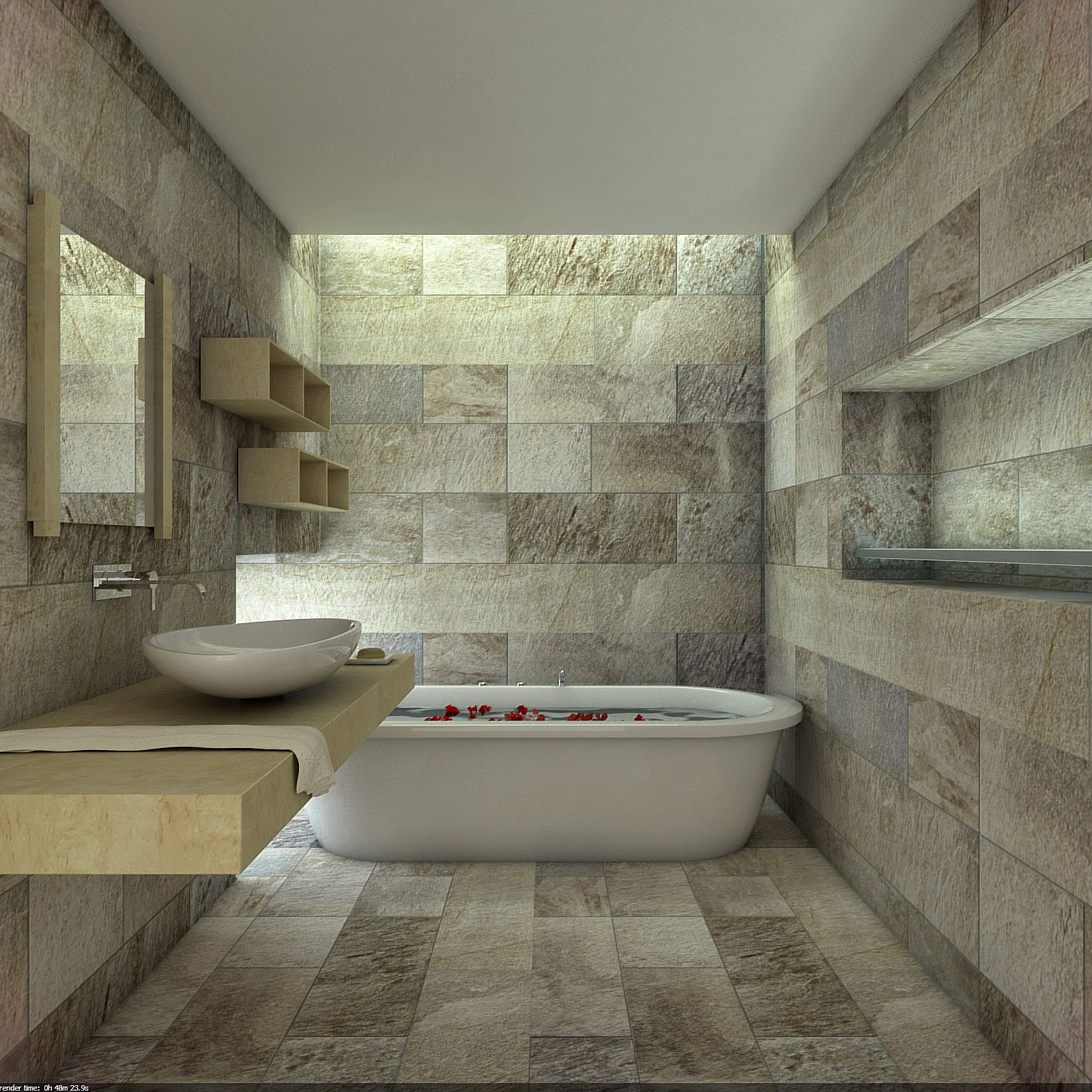 Bathroom Tile Natural Stone 2016 Pertaining To Natural Stone In ...