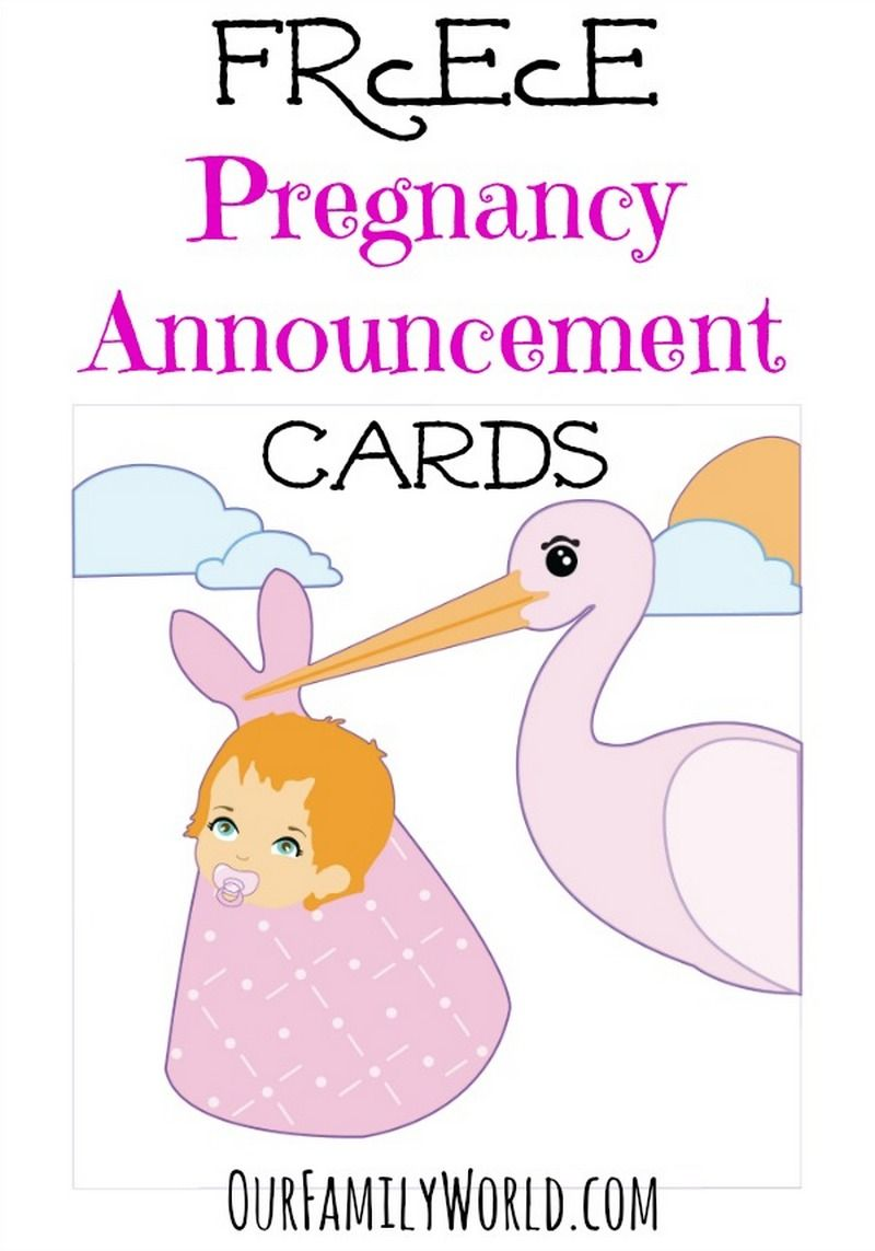 Check Out These Great Free Pregnancy Announcement Cards And Tell The World Your Good News Without