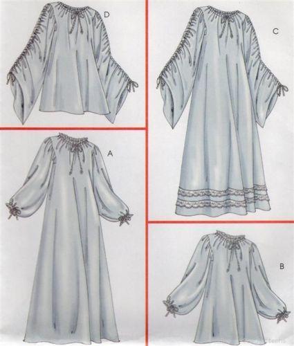 Mccalls 4091 Sewing Pattern Medievalrenaissance Costume Chemise