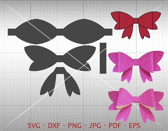 butterfly bow svg cut file