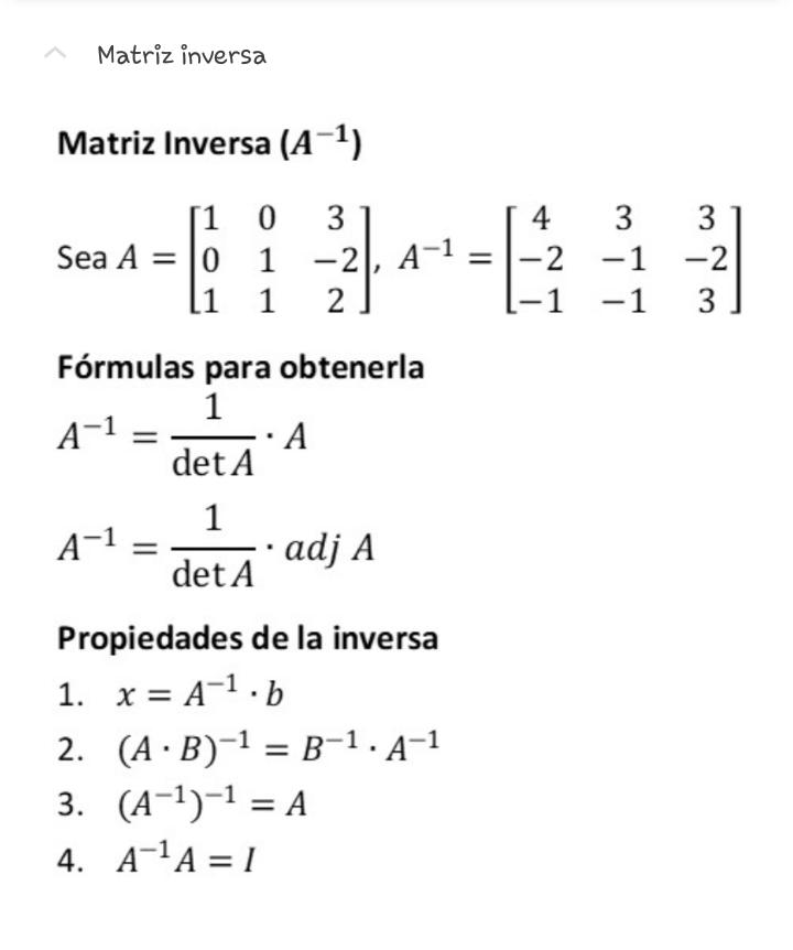 Algebra Lineal Matriz Inversa Aulas De Matematica Algebra Matematica