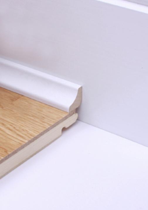 Scotia Beading White Laminate Flooring, White Beading For Laminate Flooring
