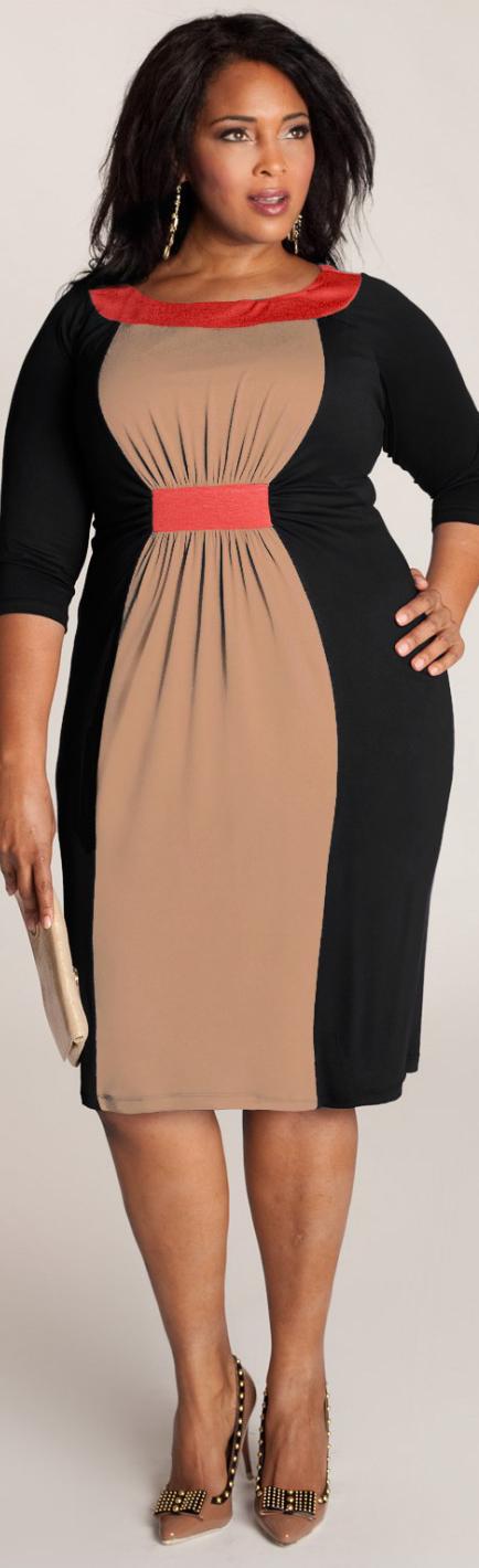 Plus Size Dresses Colorblock Dress Black And Curvy