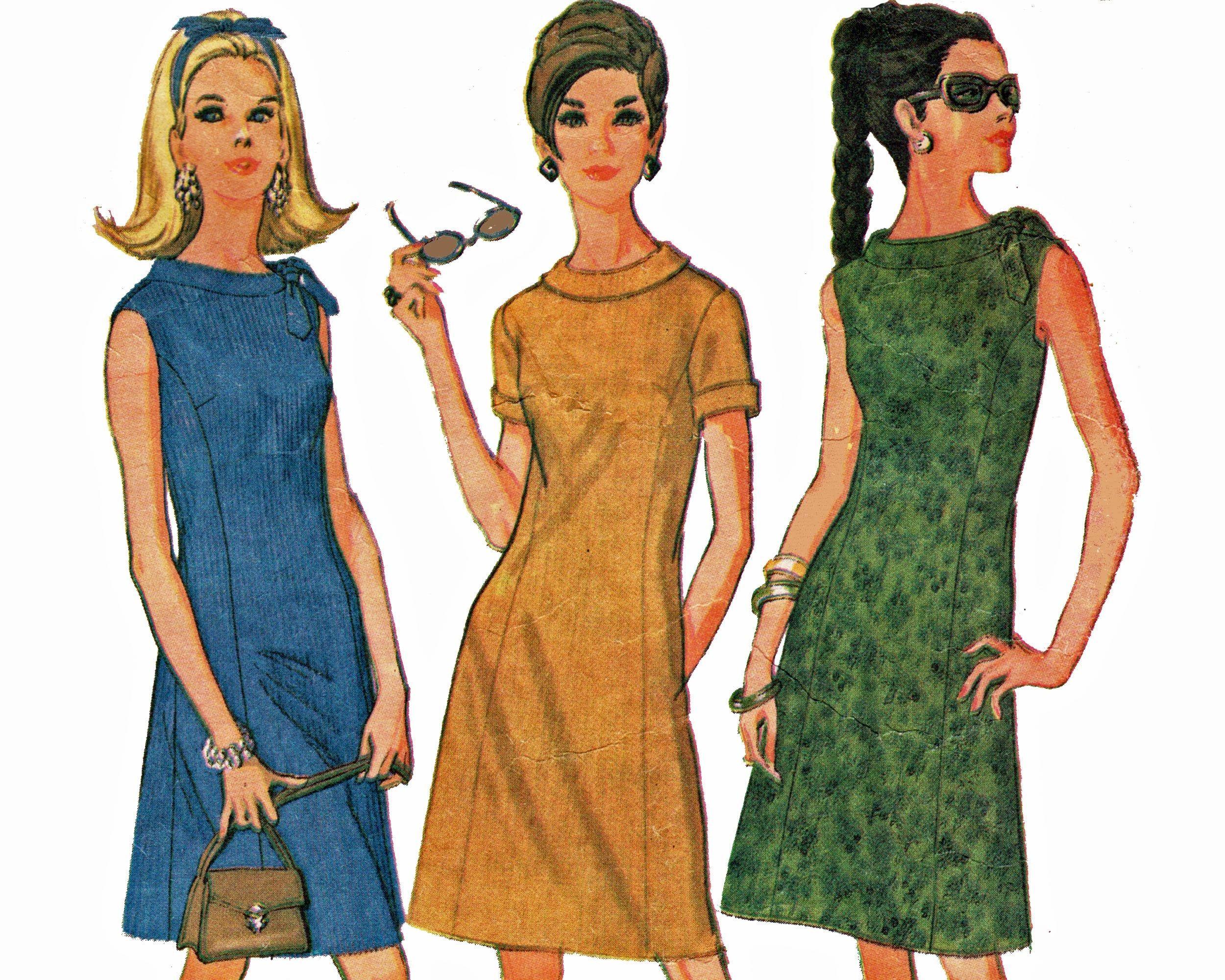 1960s Shift Dress Pattern Size 16 Vintage Sewing Pattern Etsy Shift Dress Pattern 1960s Shift Dress Simple Dress Pattern [ 2000 x 2500 Pixel ]