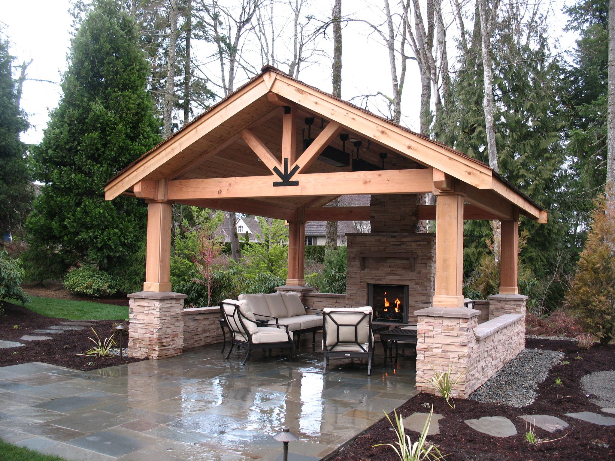 New 21 Outdoor Patios With Fireplace In 2020 Backyard Pavilion Outdoor Covered Patio Backyard Gazebo