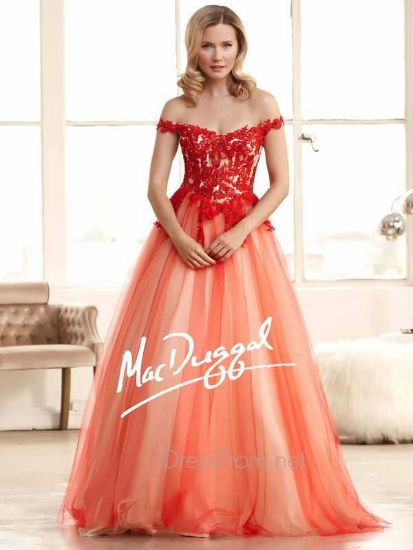 red prom ball gowns - Google Search