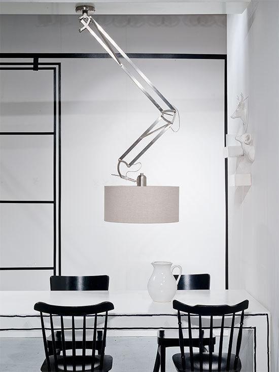 It\'s About RoMi Wandlamp Milano -Licht Linnen Rond Medium IJzer ...