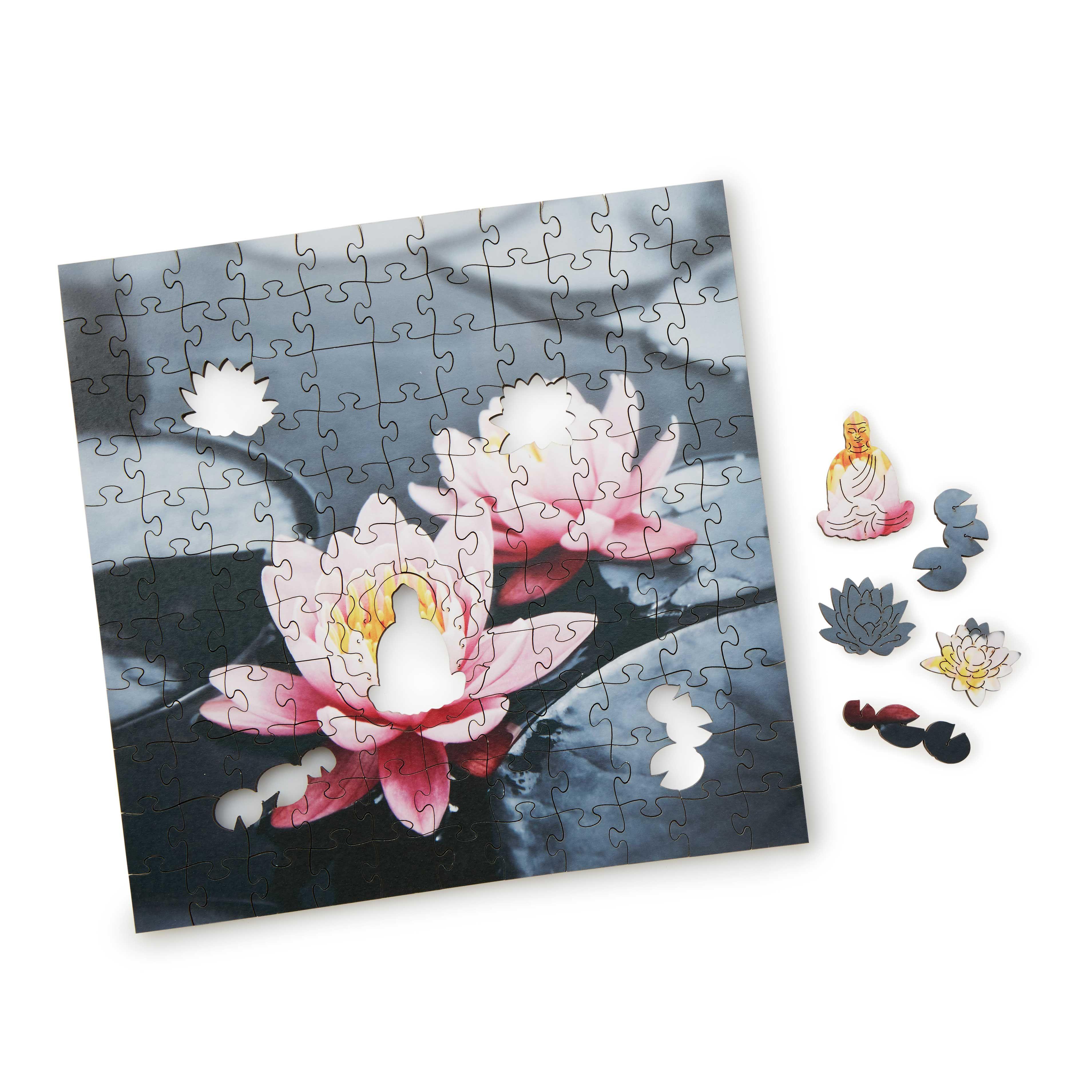 Zen Lotus Wooden Heirloom Puzzle handmade puzzle, wood