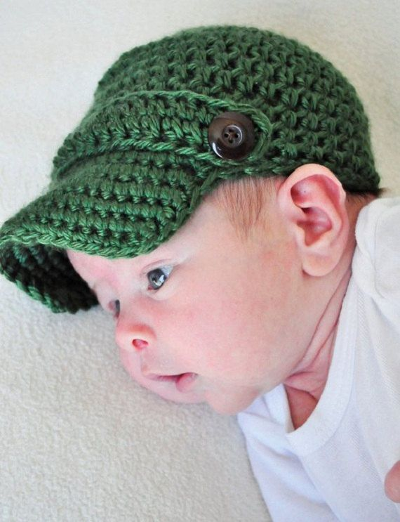 Crochet Bakerboy Hat  6aff091e7a9