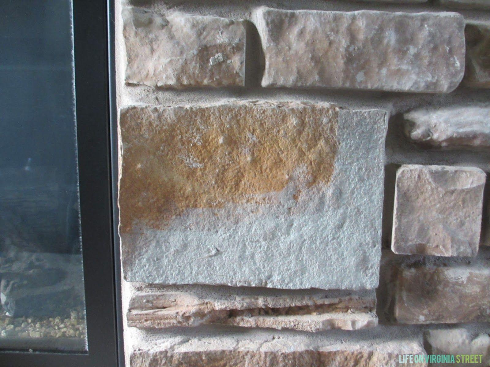 Gray Washed Stone Fireplace Painted Stone Fireplace Whitewash