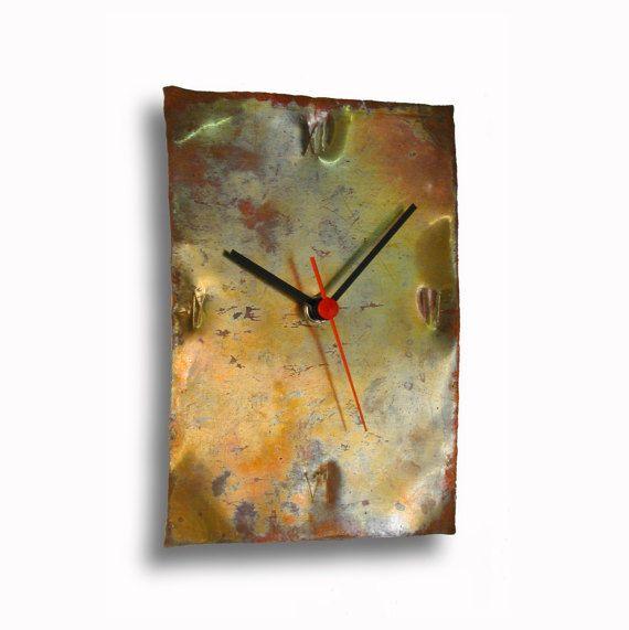 Kupfer-Uhr Design Uhr Wanduhr Hand Made Uhr Uhren Von Inthetime