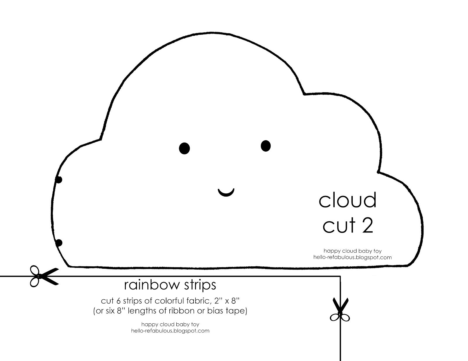 hello refabulous happy cloud baby toy tutorial templates pinterest baby toys cloud and. Black Bedroom Furniture Sets. Home Design Ideas