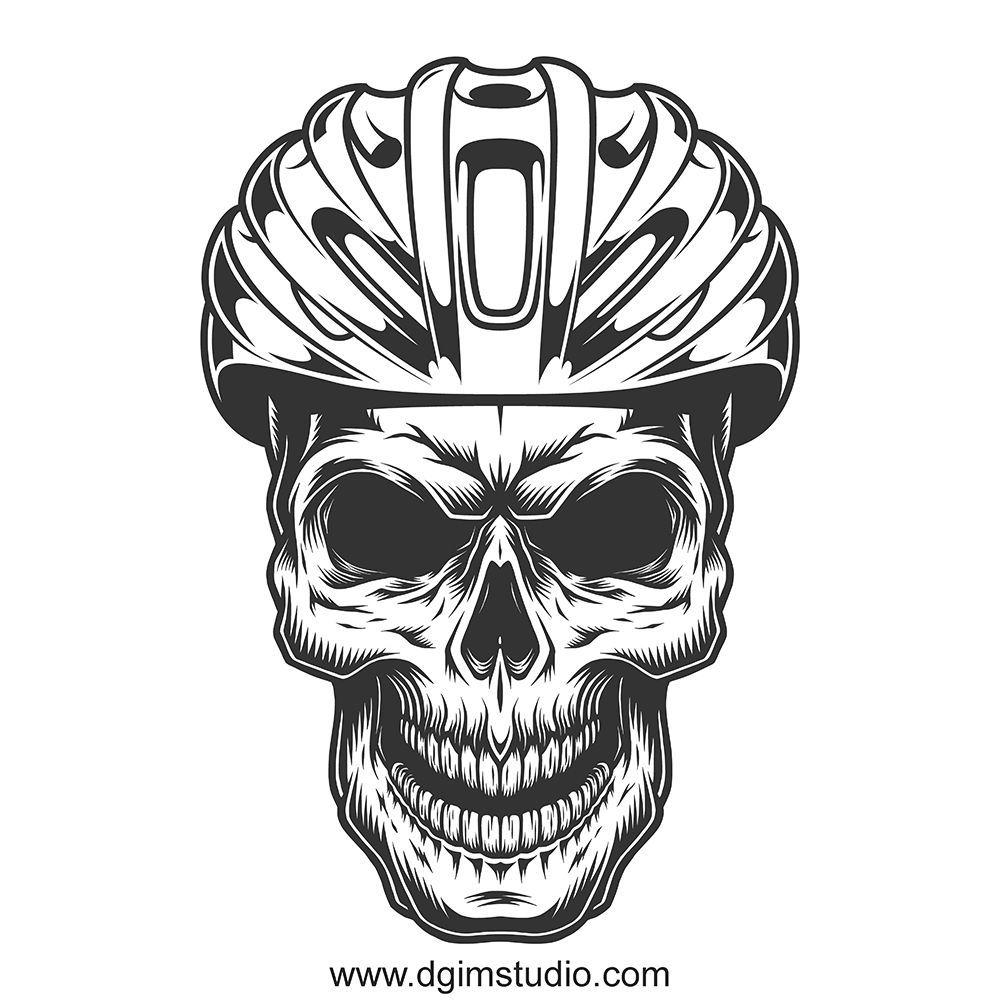 Skull Creator Ilustracao De Bicicleta Tatuagem De Bicicleta