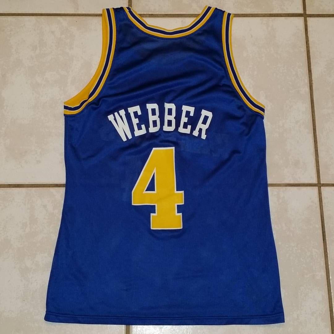 promo code bedb0 f8b24 CHAMPION Golden State Warriors Chris Webber NBA Jersey ...