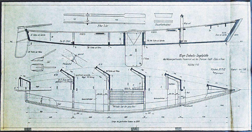 bauplan f r die chiemseepl tte von 1944 shallow displacement sharpie pinterest chiemsee. Black Bedroom Furniture Sets. Home Design Ideas