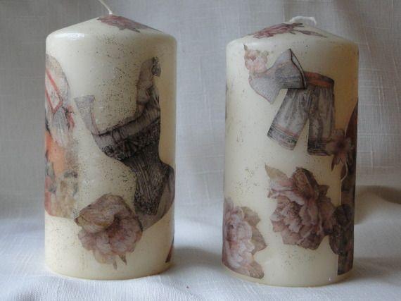 velas decoradas con damas antiguas regalinos las cosinas de la tata artesanio