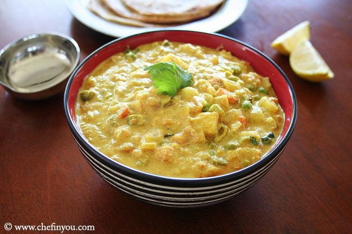 Easy Vegetable Kurma Recipe Hotel Style Veg Kuruma Recipe