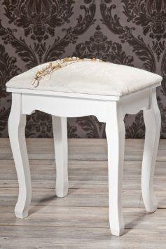 Traumhafter Hocker Sitzhocker in weiß *189: Amazon.de: Küche & Haushalt