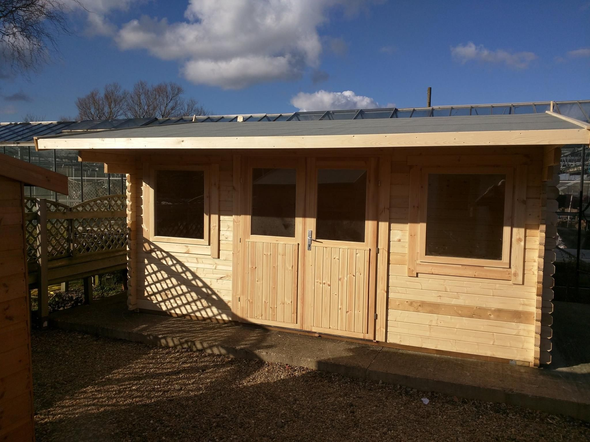 The Bridport Log Cabin 3.2m wide by 4.4m deep. Comes with
