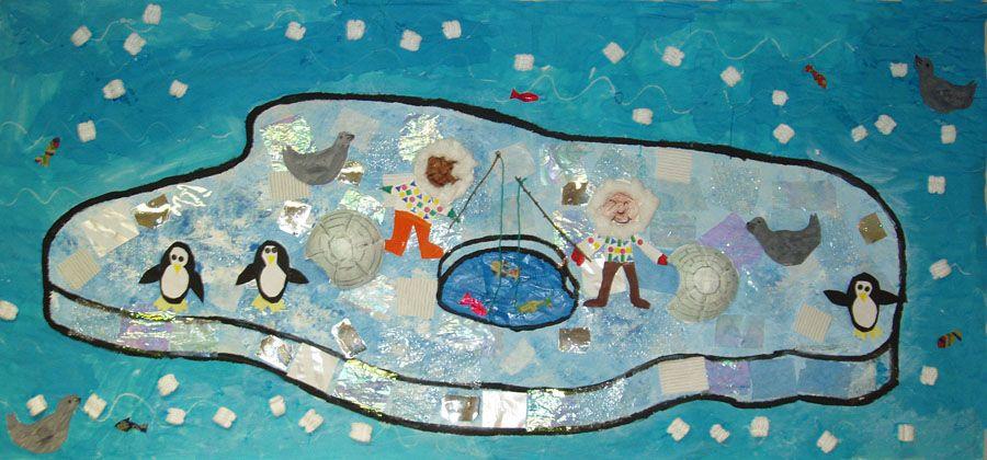 Fresque Banquise Ecole Banquise
