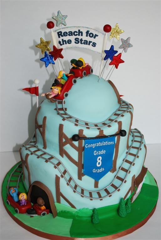 Roller Coaster Of Life Roller Coaster Cake Birthday Cake Kids Cake Toppings
