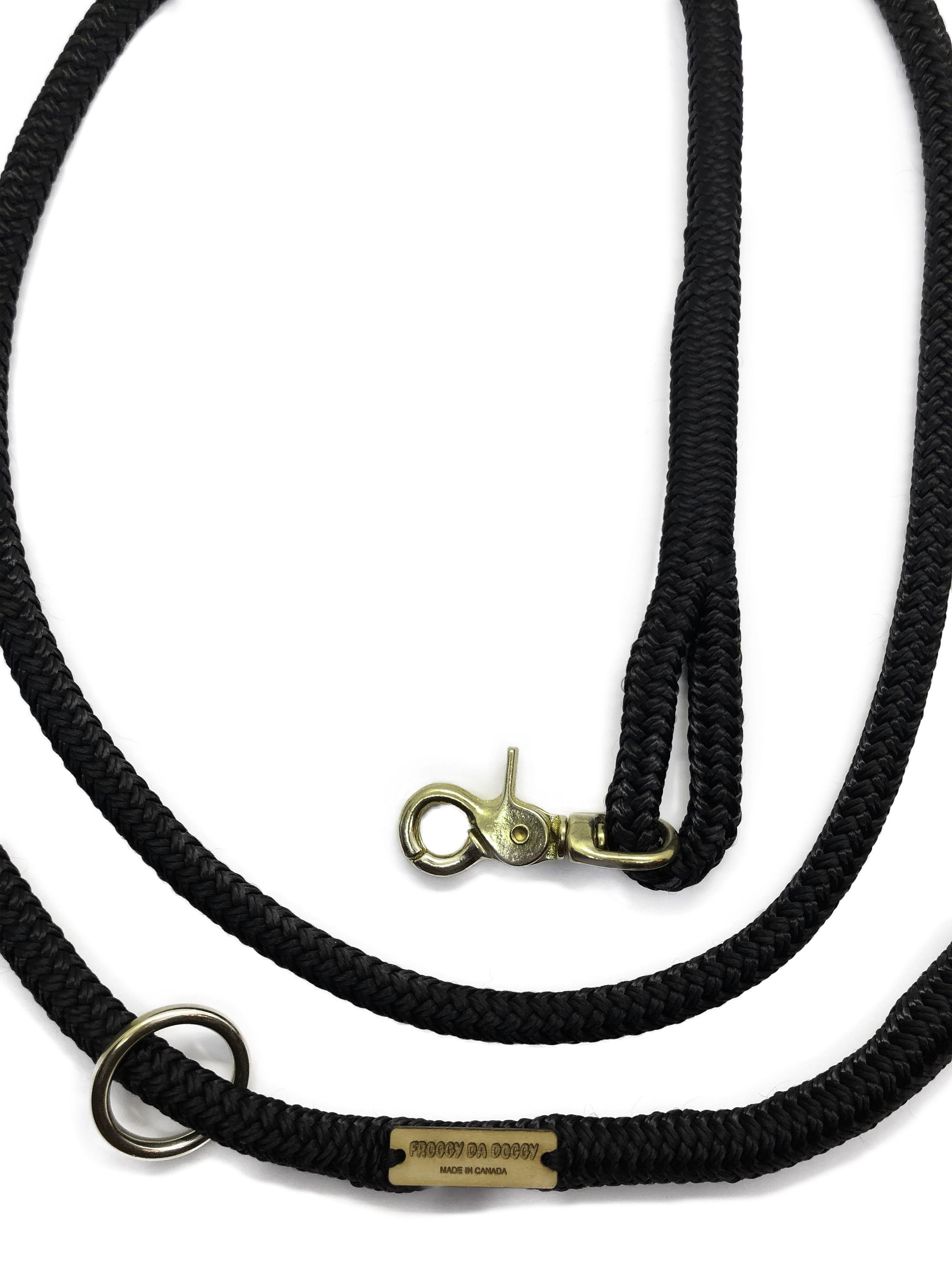 Black dog leash handsfree rope dog rope dog leash dog
