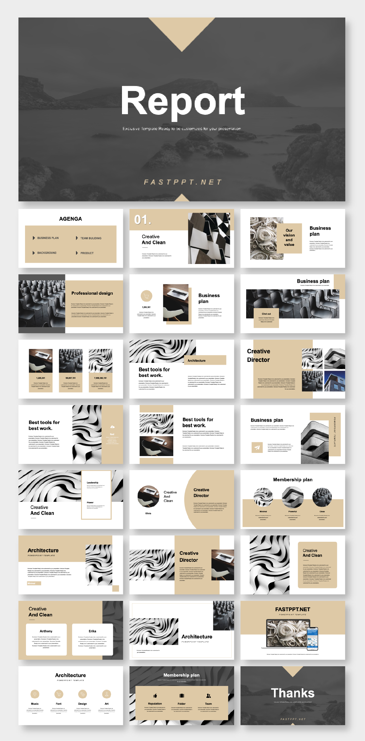 2 in 1 Minimal  Professional PowerPoint Template