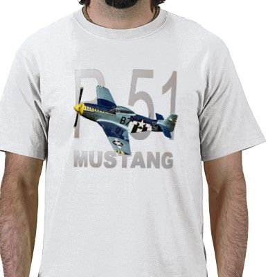 World War Two P-51 Mustang Fighter T-shirts and Military Gifts.
