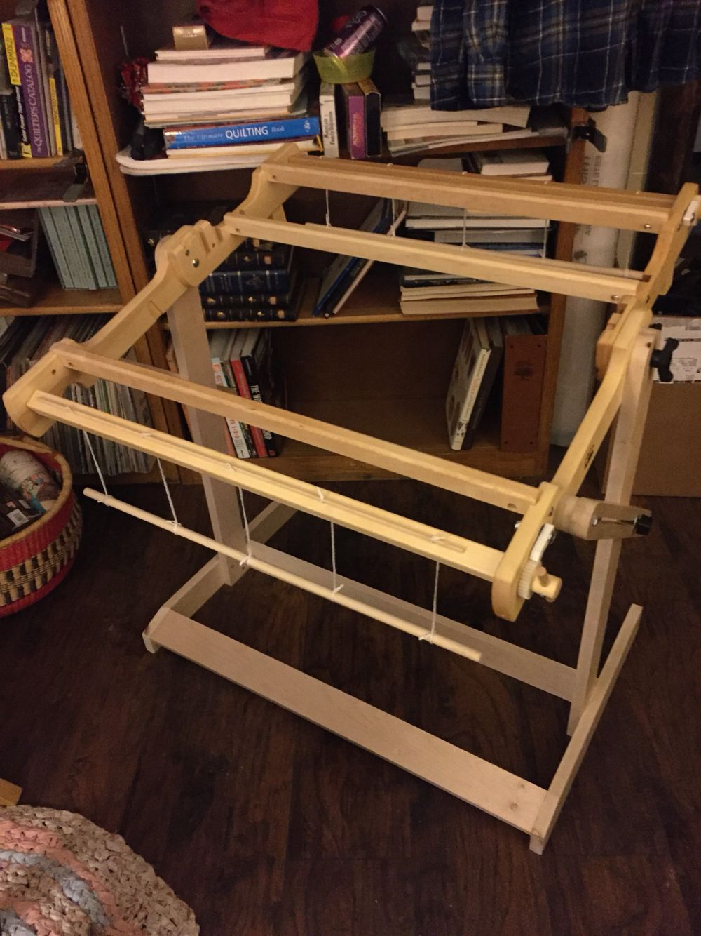 Homemade stand for my Schacht Flip 25 loom  Maple wood, wood