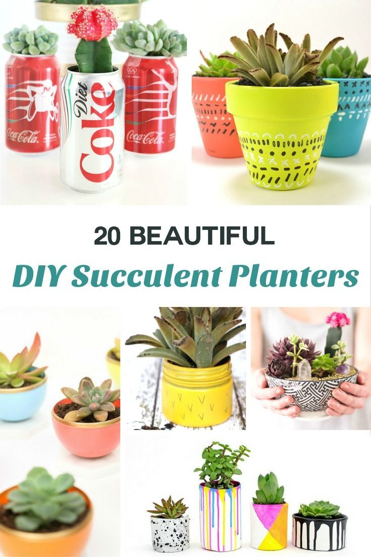 Garden decor craft ideas   Beautiful DIY Succulent Planter Ideas  Planters Unique and Craft