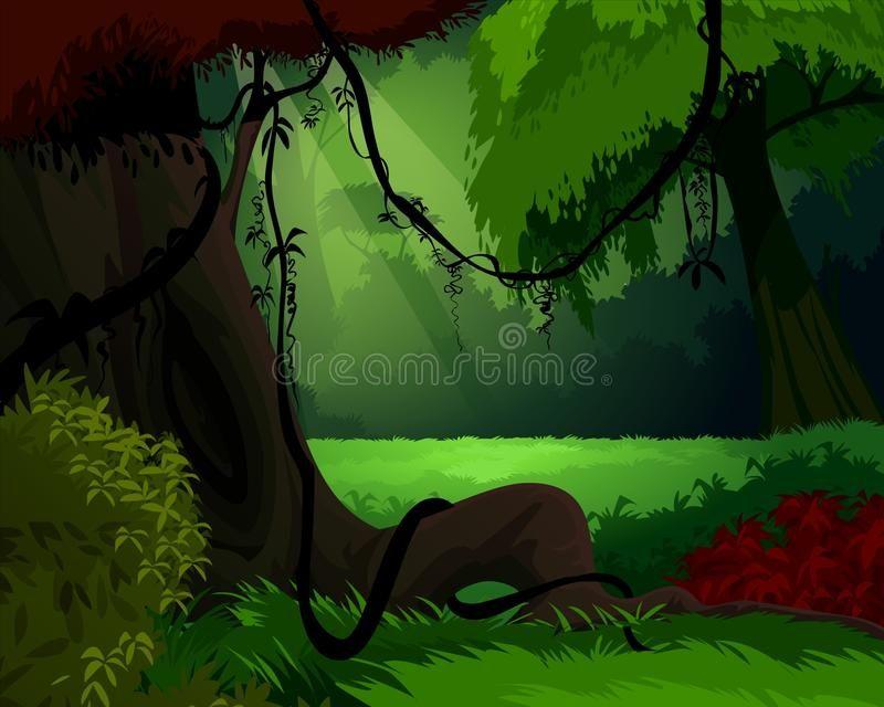 Download dense forest landscape vector material in eps format. Forest Background Dark Dense Forest With Sunset Illustration Sponsored Paid Affiliate Background Illustr Forest Background Stock Illustration Forest