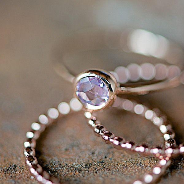 "Ring ""Amethyst"" von Lebenslustiger auf DaWanda.com"