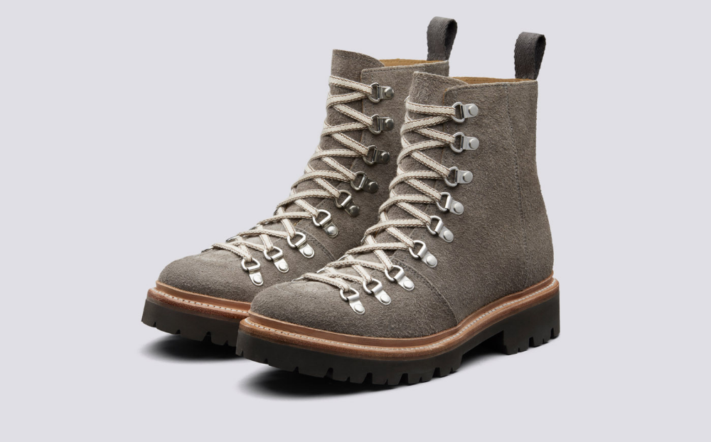 Nanette | Womens Hiker Boots in Vigogna