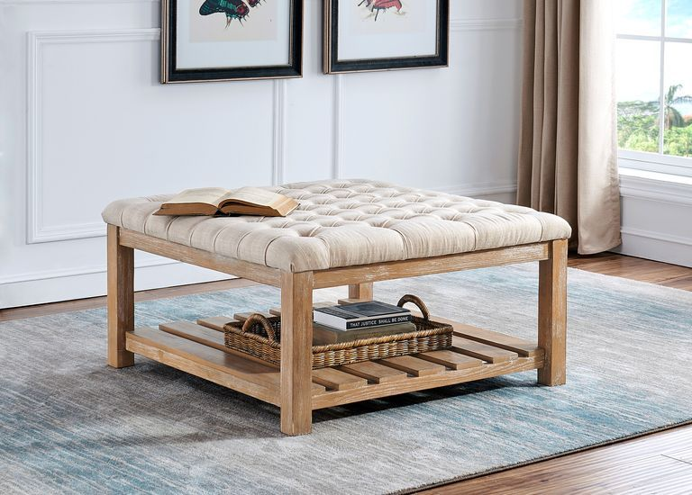 Pipestone Cream Cocktail Ottoman Rooms To Go In 2020 Rooms To