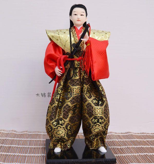 check price unique japanese samurai with sword figurines