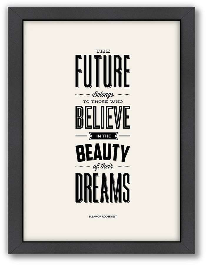 Americanflat Motivated Type ''Future'' Typography Framed