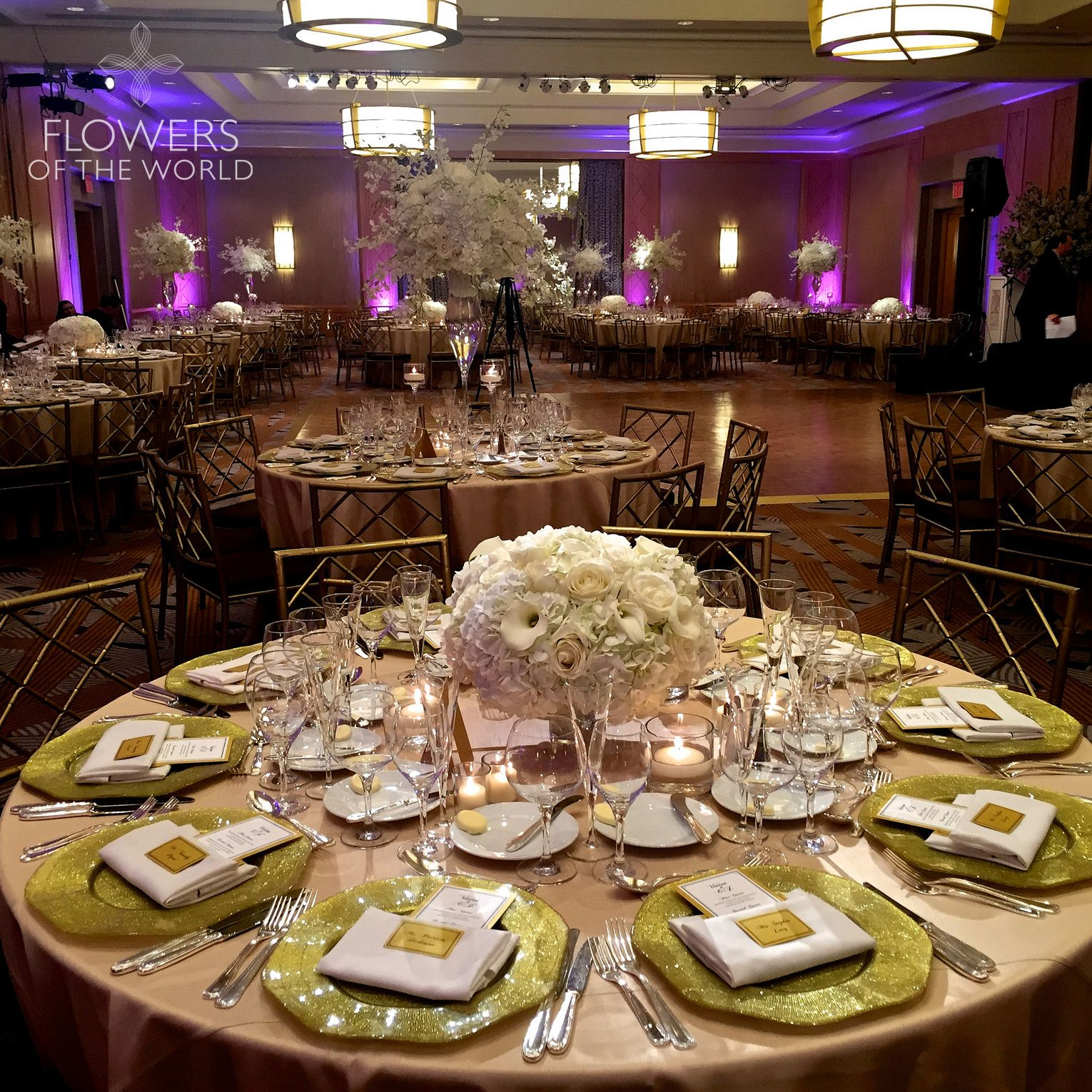Featuring Our Signature Low And Lush Tall Arrangements In The Ballroom Of Ritz Carlton Battery Park Nyc