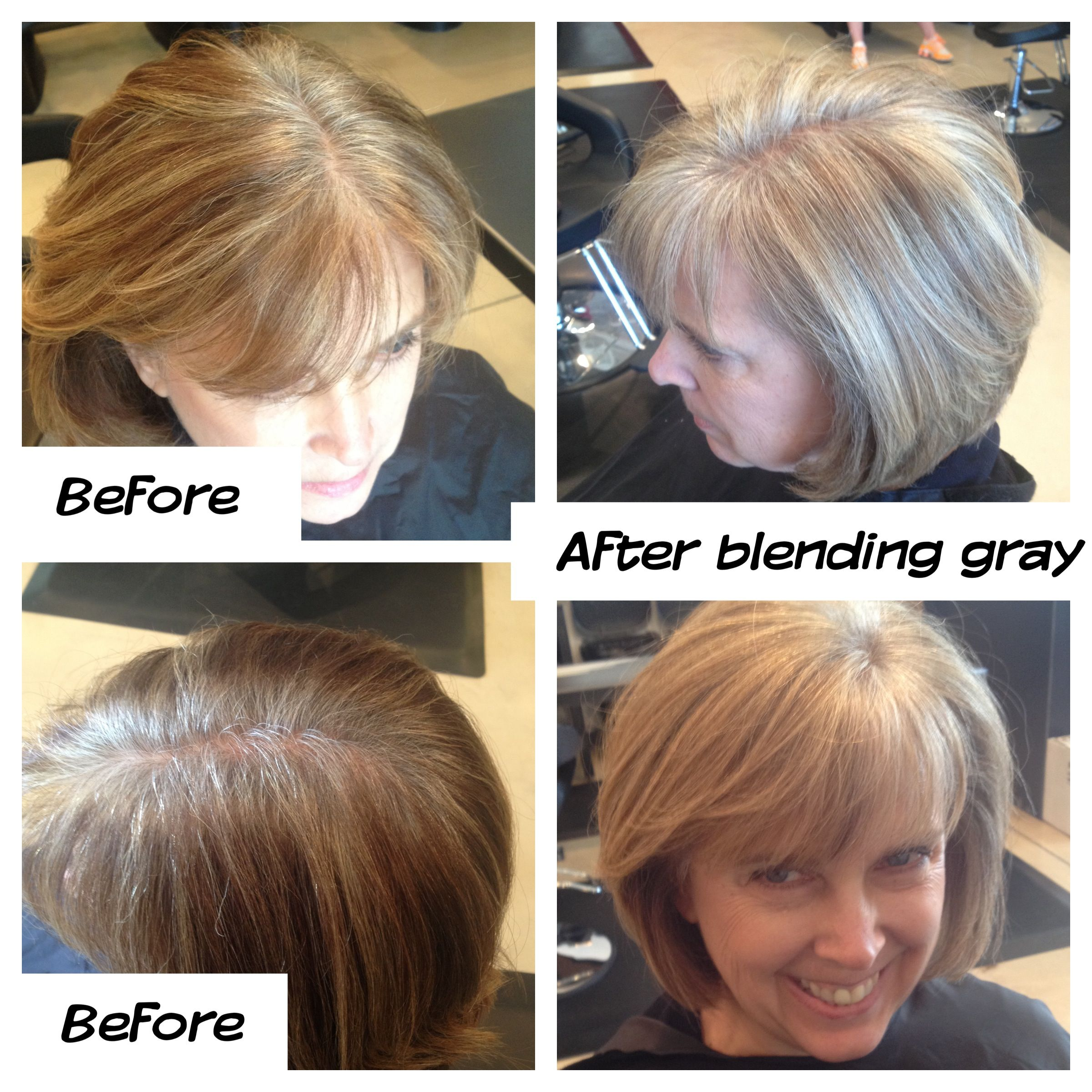 Gray Blending Grow Out Mature Style Gray Silver Hair